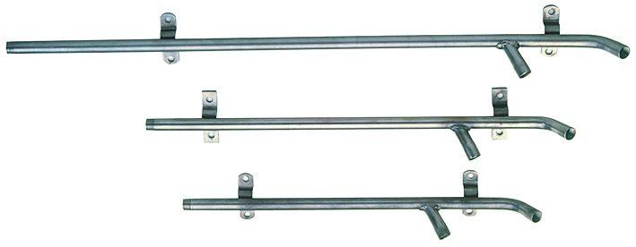 Supporto tubolare cm. 70 inox 304 a due abbeveratoi – Codice 132-7
