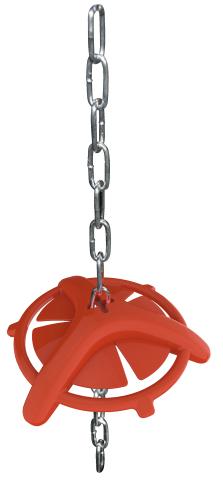 Anello in plastica per suinetti con catena – Codice 9674